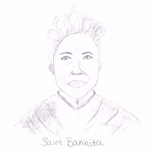 St Bakhita by A final drawing